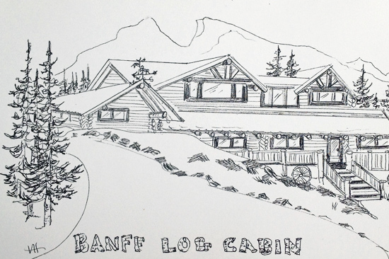 stay at the banff log cabin